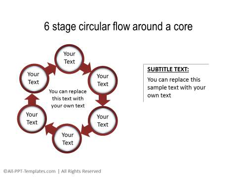 PowerPoint Circular Flow 16