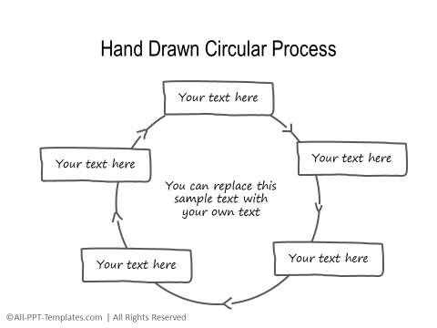 PowerPoint Circular Flow 40
