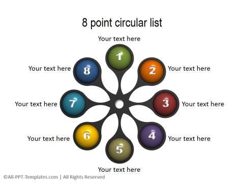 PowerPoint Circular List 31