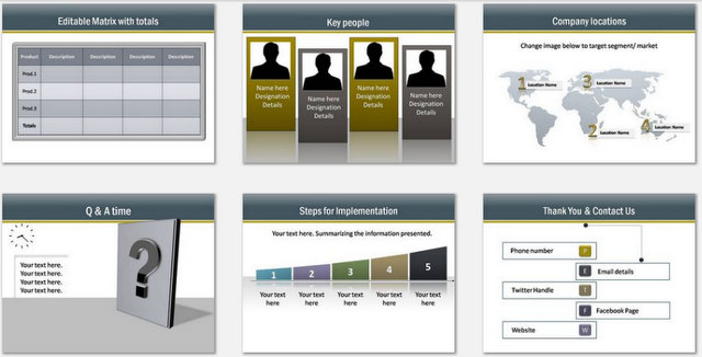 PowerPoint Consulting Services Charts 03