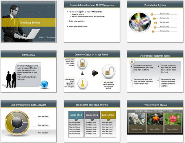 PowerPoint Consulting Services Charts 01