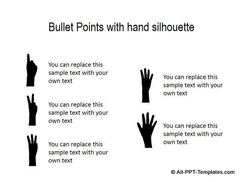 PowerPoint Creative List with Hand Silhouette