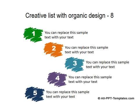 PowerPoint Creative List - Organic Design