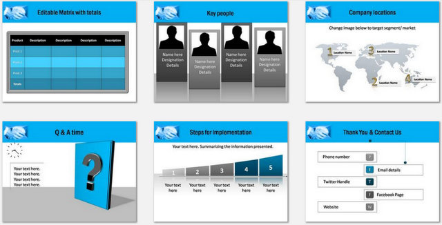 PowerPoint Customer Service Charts 03