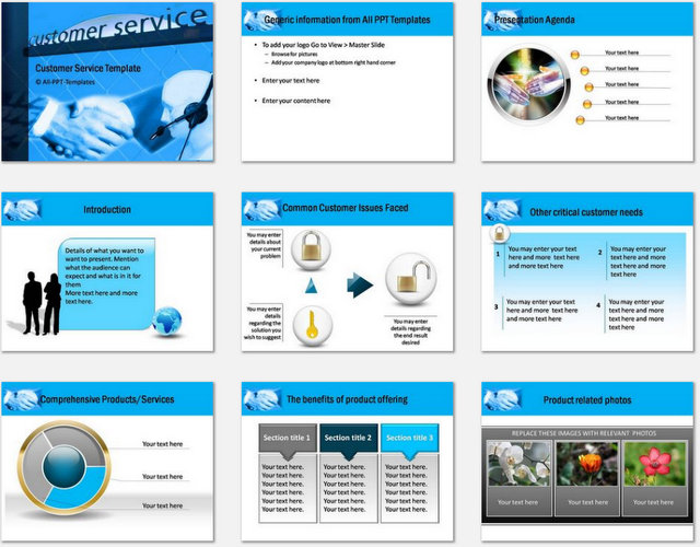 PowerPoint Customer Service Charts 01