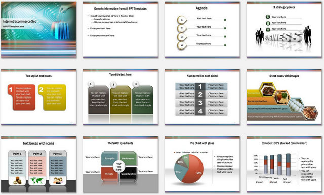 PowerPoint Ecommerce Charts 1