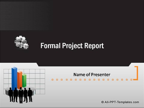 Pptx Formal Report Title Slide