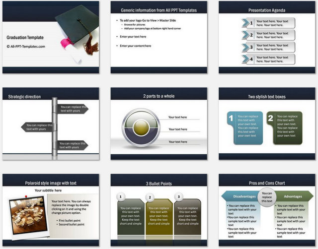 Graduation Pptx Charts 1