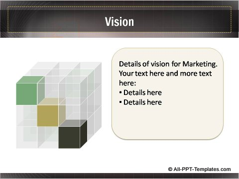 Business Growth Cube Vision Slide