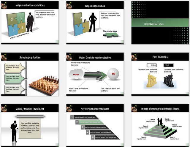 PowerPoint Growth Strategy Charts 02