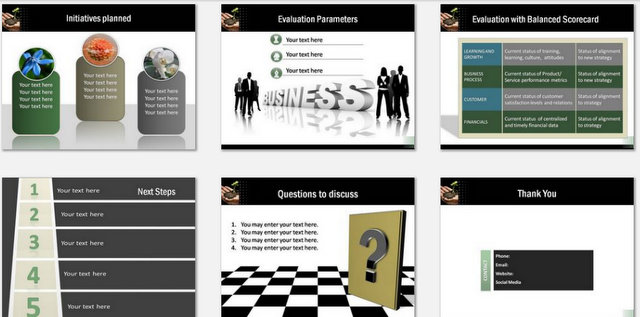 PowerPoint Growth Strategy Charts 03