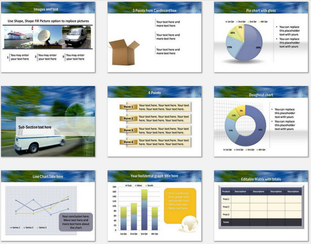PowerPoint Last Mile Delivery  Charts 02