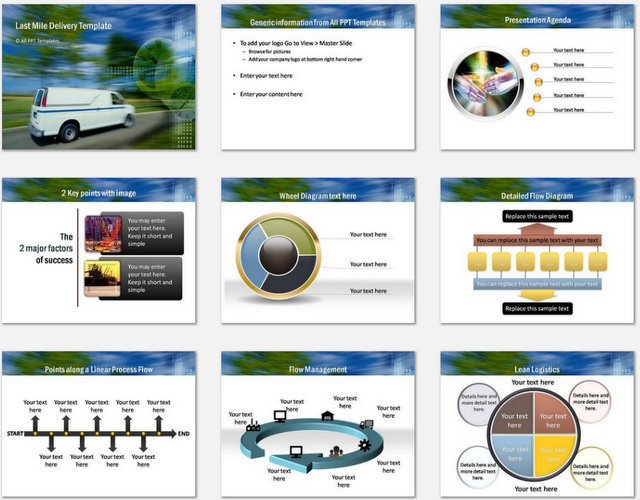 PowerPoint Last Mile Delivery  Charts 01