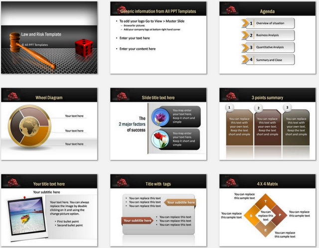 PowerPoint Law and Risk Charts 1