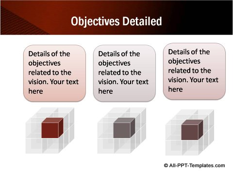 Detailed Objectives slide