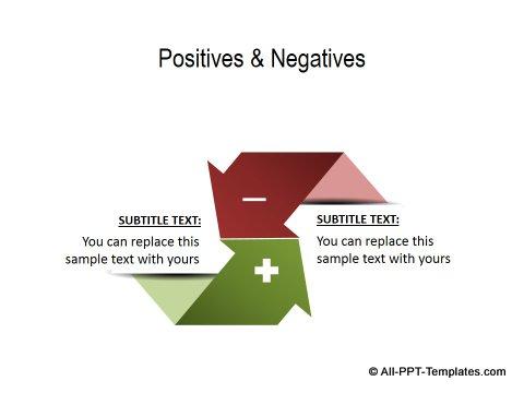 PowerPoint Positive Negative Comparisons 03