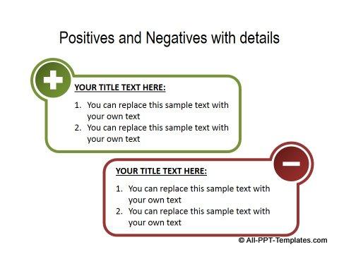 PowerPoint Positive Negative Comparisons 04