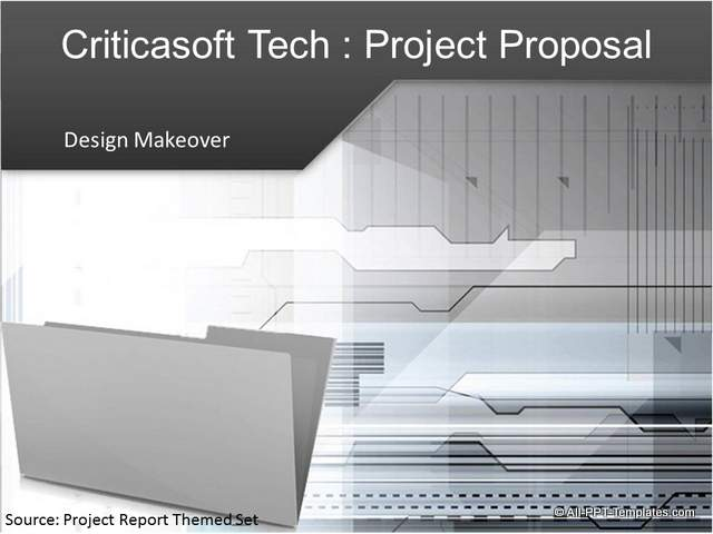 PowerPoint Project Proposal Makeover : After Slide 01