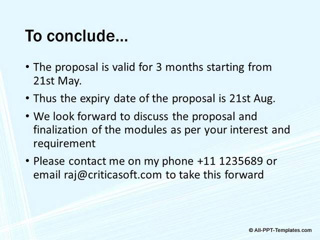 PowerPoint Project Proposal Makeover : Before Slide 09
