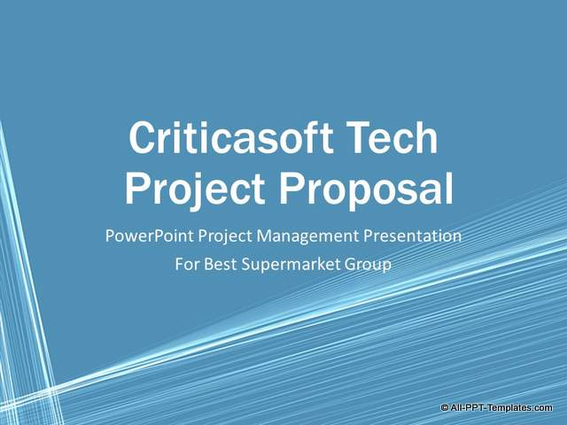 PowerPoint Project Proposal Makeover : Before Slide 01