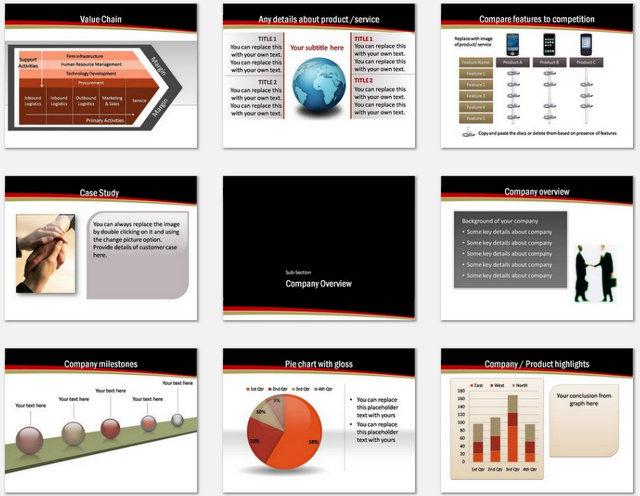 PowerPoint Sales Goals Charts 02
