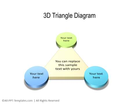 3D PowerPoint Triangle