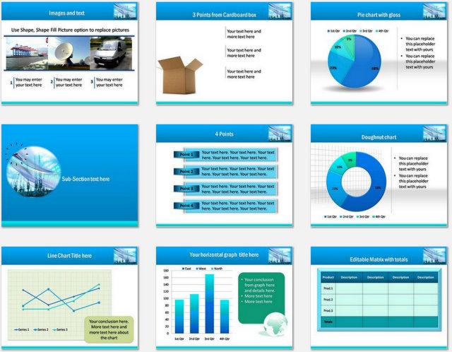 PowerPoint Shipyard Logistics Charts 02