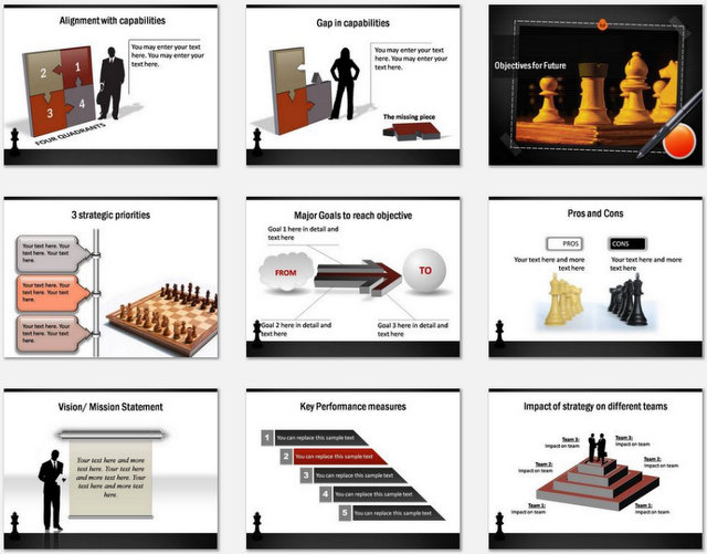 PowerPoint Strategy Drawing Board Charts 02