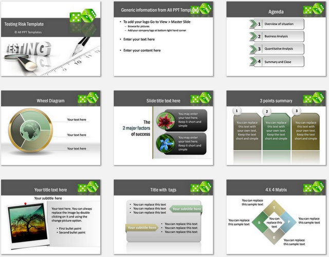 PowerPoint  Testing Risk Charts 1