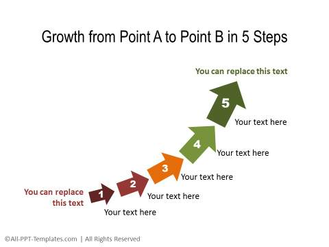PowerPoint Timeline Showing Upward Movement