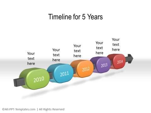 PowerPoint Linear Timeline 30