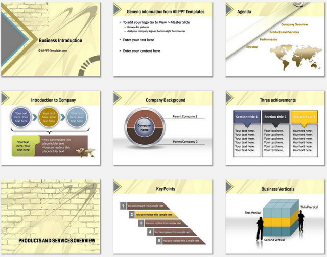 PowerPoint Wall Intro Charts 1