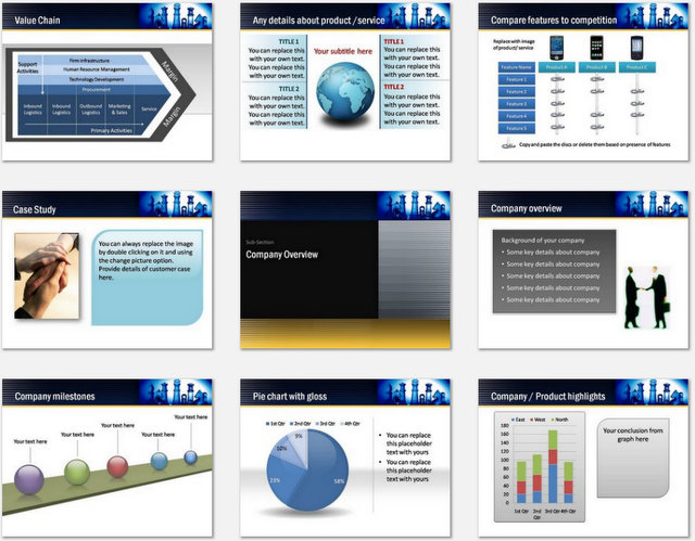 PowerPoint Working Together Charts 02