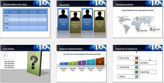 PowerPoint Working Together Charts 03
