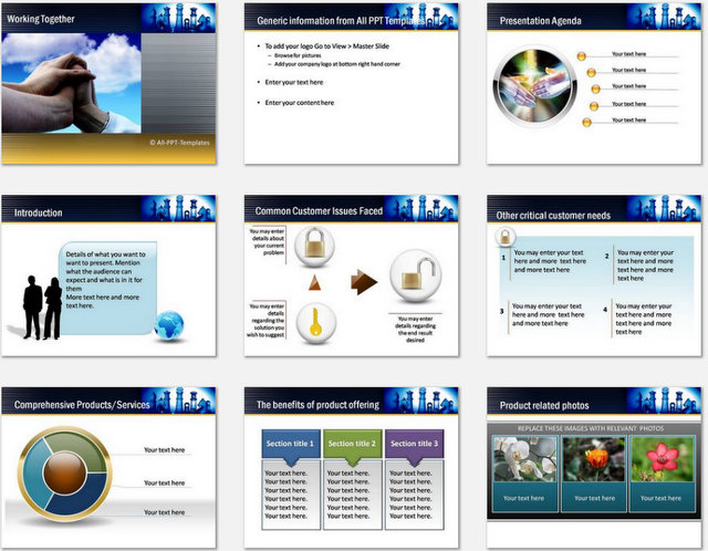 PowerPoint Working Together Charts 01