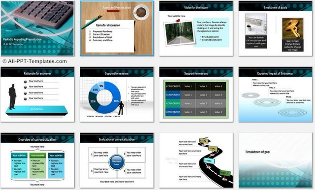 PowerPoint Periodic Reporting Charts 1