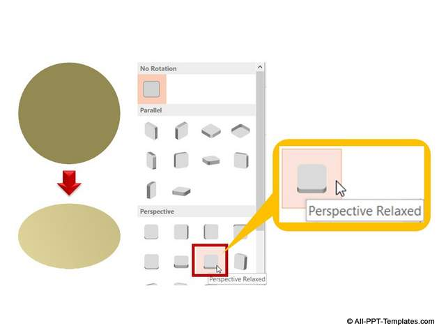 Relaxed Perspective option to 3D circle