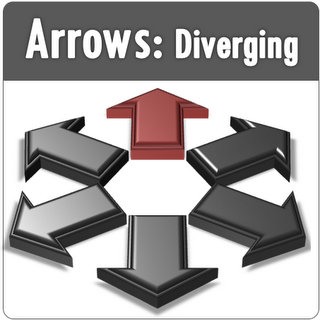 Diverging PowerPoint Arrows