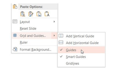 Grids and Guides Menu