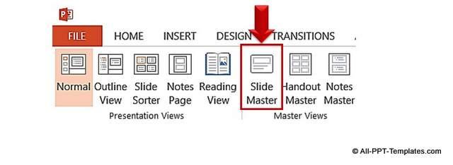 Slide Master Menu