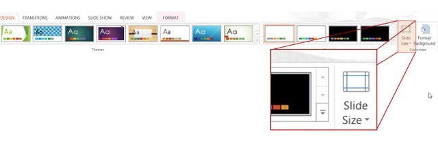 How to change default powerpoint slide size slide size setting toneelgroepblik Choice Image
