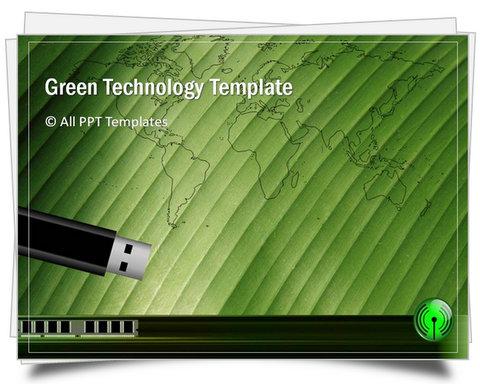 PowerPoint Green Technology Template