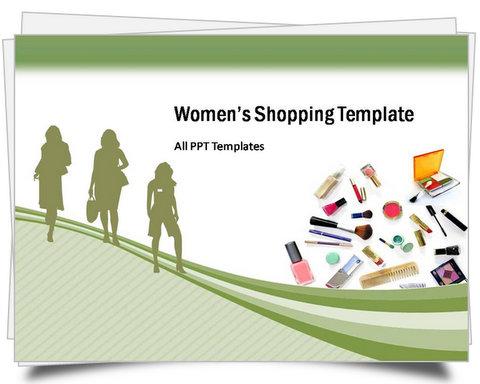 PowerPoint Women's Shopping Template