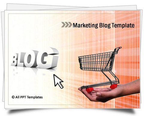 PowerPoint Marketing Blog Template