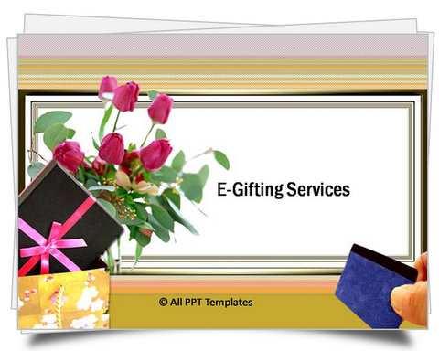 PowerPoint E-Gifting Services Template