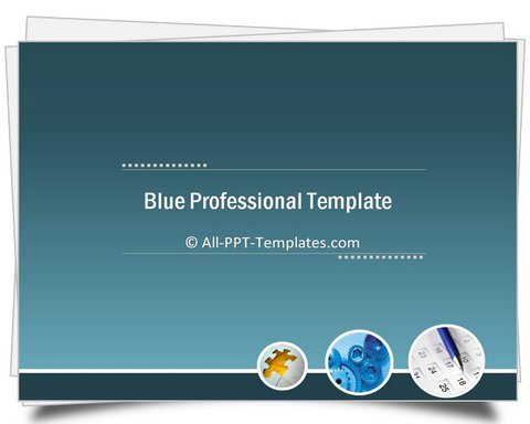 PowerPoint Blue Professional Introduction Template
