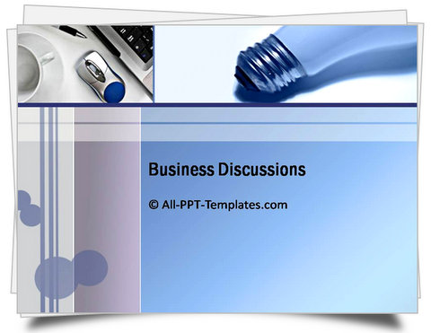 PowerPoint Business Discussion Template