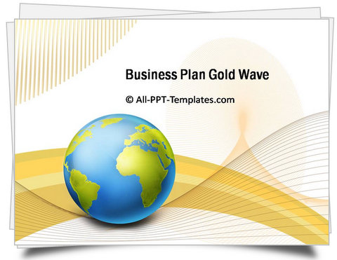 PowerPoint Gold Wave Template