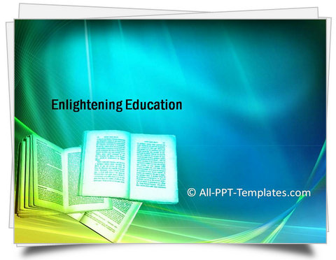 PowerPoint Enlightening Education Template
