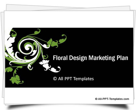 PowerPoint Floral Design Template with 24 ready to use slides from agenda, charts to graphs for presenting marketing plan